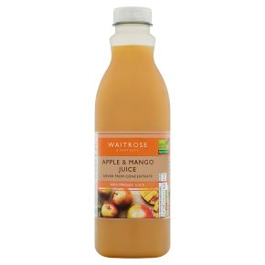 Waitrose pressed apple & mango juice