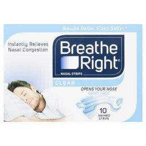 Breathe Right clear nasal strips