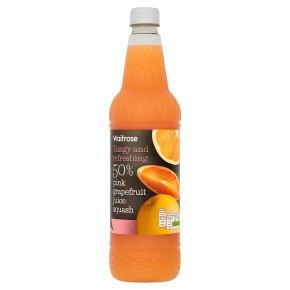 Waitrose 50% pink grapefruit juice squash