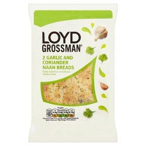 Loyd Grossman, 2 garlic & coriander naan bread
