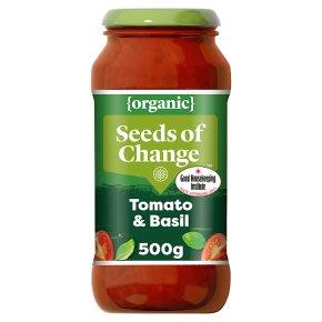 Seeds of Change pasta sauce tomato and basil