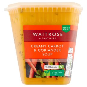 Waitrose carrot & coriander soup