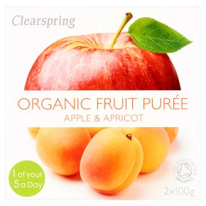 Clearspring pureé apple & apricot