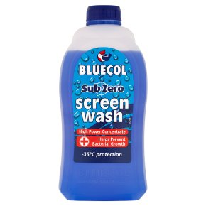 Bluecol screen wash