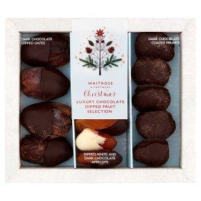 Waitrose Christmas chocolate dipped prunes, apricots & medjool dates