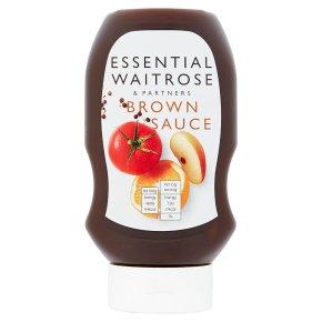 essential Waitrose squeezy brown sauce