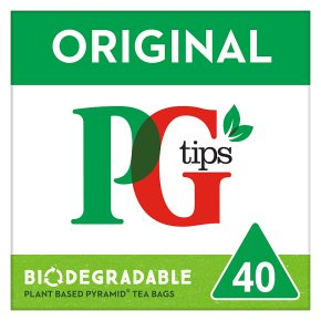 PG Tips 40 tea bags pyramid