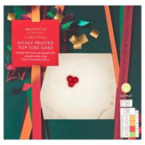 Waitrose Christmas Top Iced Fruit Cake
