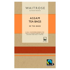 Waitrose Fairtrade Rich & Robust 50 Assam Tea Bags