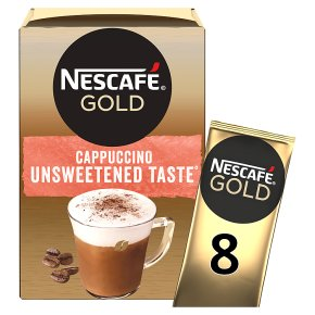 NESCAFE Gold Cappuccino Unsweetened Coffee 8 Sachets