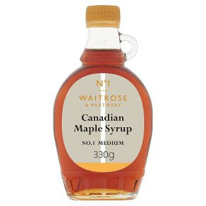 Waitrose 1 canadian maple syrup - medium No. 1