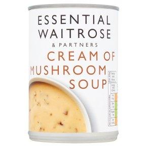 essential Waitrose cream of mushroom soup