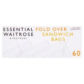 Waitrose single sandwich bags, roll of 60