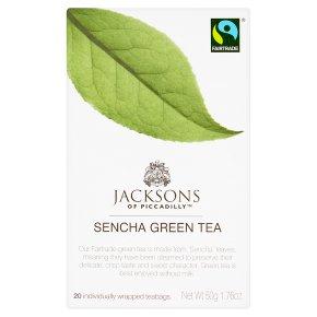 Jacksons of Piccadilly sencha green tea 20 tea bags