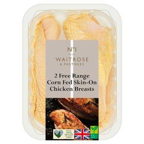 Waitrose 1 Free Range 2 boneless chicken breasts