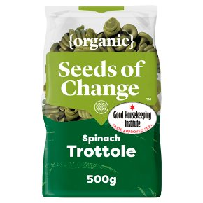 Seeds of Change organic spinach trottole pasta