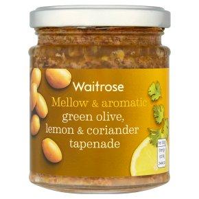 Waitrose green olives, coriander & lemon tapenade