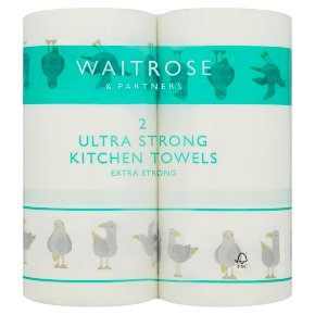 Waitrose Ultra Kitchen Towels Decorated