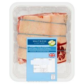 Waitrose British pork shoulder with apple and sage stuffing