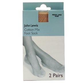 John Lewis Women foot socks - nude - M/L