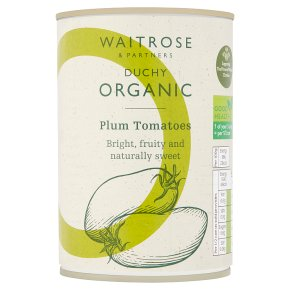 Waitrose Duchy Organic tinned plum tomatoes in natural juice