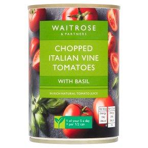 Waitrose tinned chopped tomatoes with chopped basil