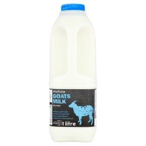 Waitrose full cream fresh goat's milk