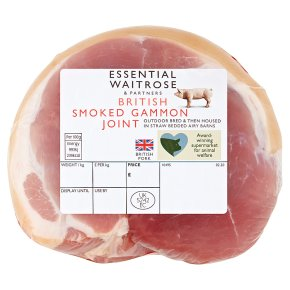 essential Waitrose smoked British small gammon joint