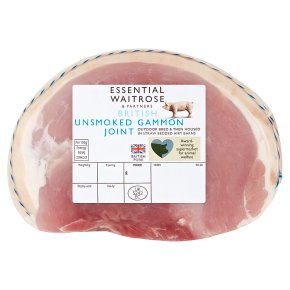essential Waitrose unsmoked British small gammon joint