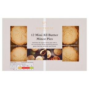 Waitrose 1 12 Mini All Butter Mince Pies