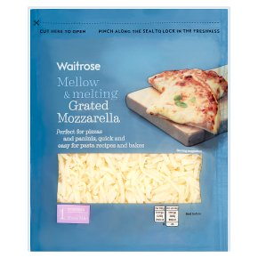 Waitrose grated mozzarella strength 1