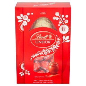 Lindt Lindor Milk Chocolate Egg & Filled Mini Eggs