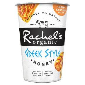 Rachel's organic Greek style honey yogurt