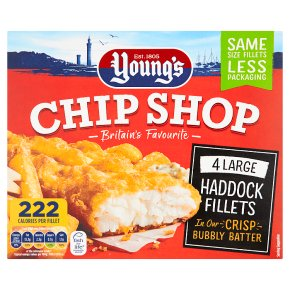 Young's chip shop large haddock fillets
