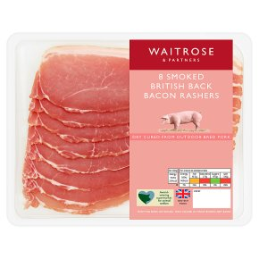 Waitrose Dry Cured Smoked Back Bacon 8 Rashers