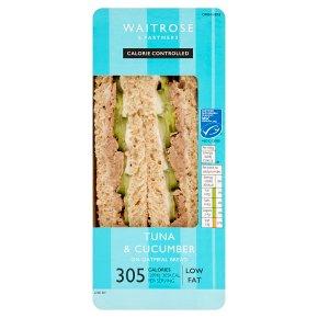 Waitrose LoveLife Calorie Controlled MSC tuna & cucumber sandwich