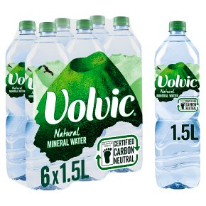 Volvic natural mineral water.