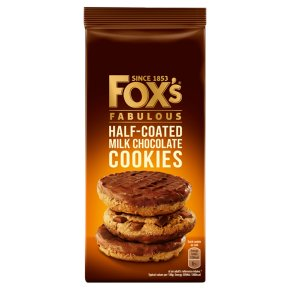 Fox's chunkie extremely chocolatey cookies