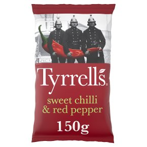 Tyrrells crisps sweet chilli & red pepper