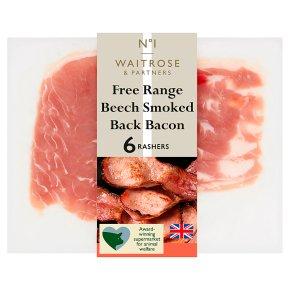 Waitrose 1 beech free range air dried beech smoked back bacon