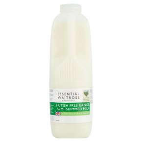 essential Waitrose semi-skimmed milk 1.7% fat 2 pints