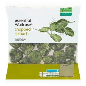 essential Waitrose frozen chopped spinach