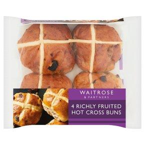 Waitrose richly fruited hot cross buns