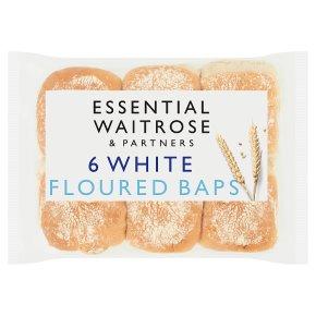 essential Waitrose white floured baps