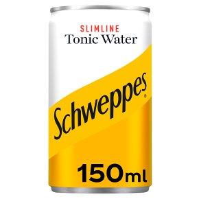 Schweppes tonic slimline single can