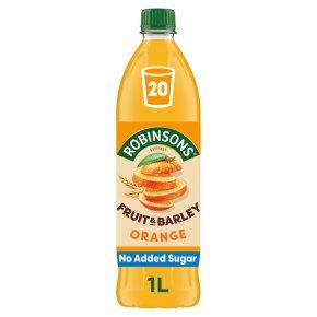 Robinsons no added sugar fruit & barley orange squash