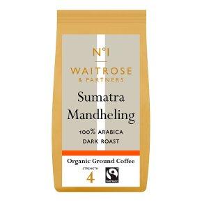 Waitrose organic ground coffee Sumatra mandheling