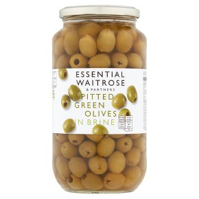 Waitrose Spanish pitted green olives