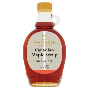 Waitrose 1 Canadian Maple Syrup No. 2 Amber