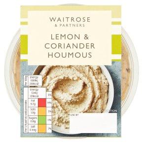 Waitrose lemon & coriander houmous
